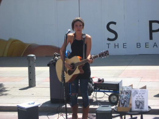 Chelsea Willams, street performer, LA