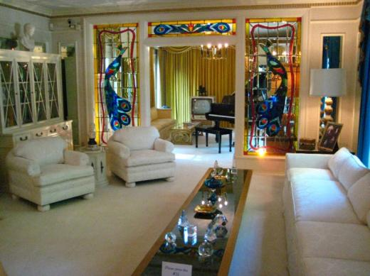 Elvis' front room, Memphis, TN
